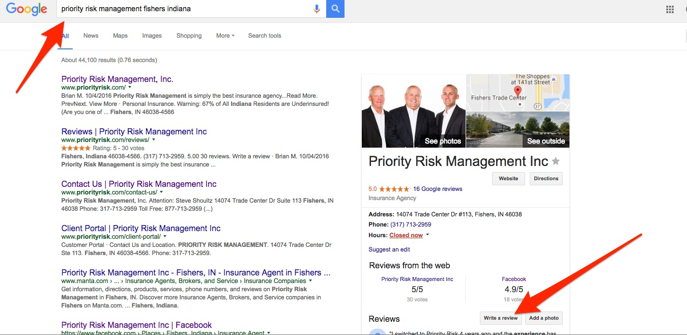 google-review-priority-risk-management-fishers-indiana